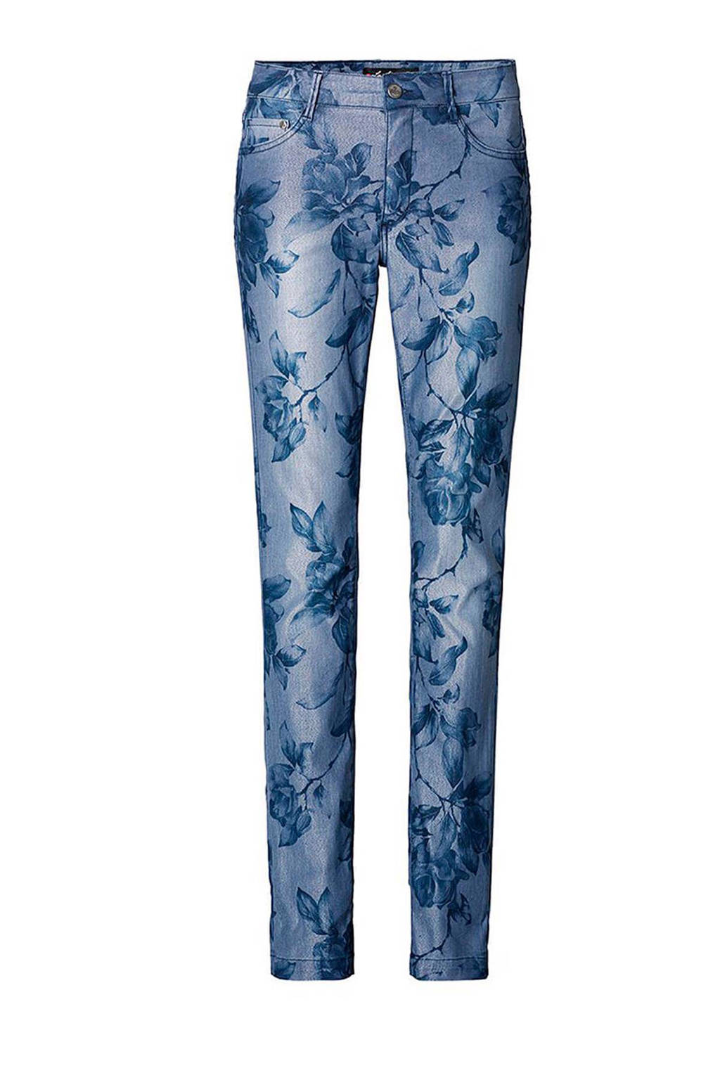 La Ligna slim fit broek, Blauw/grijs
