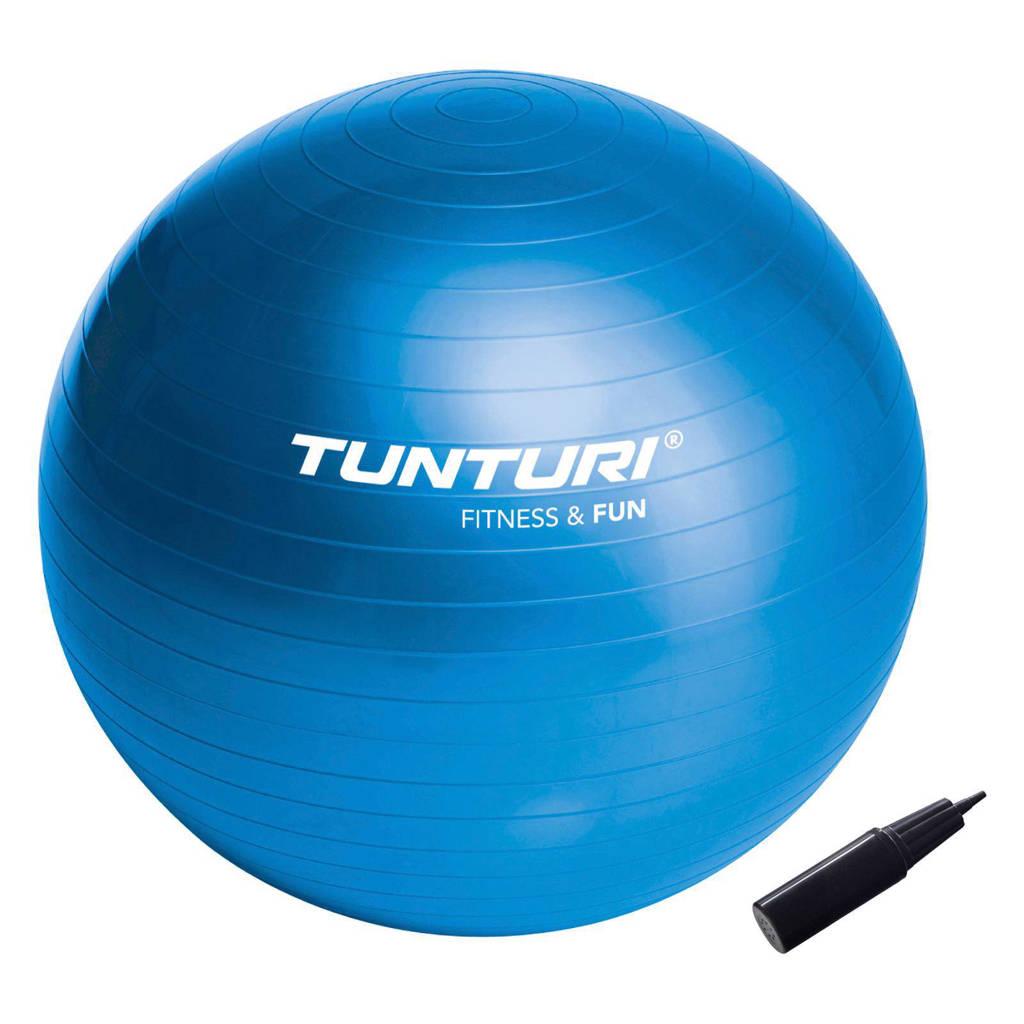 Tunturi 55 cm fitness bal 55 cm, Blauw