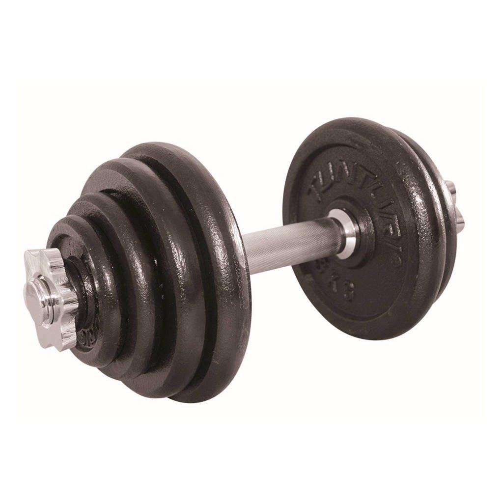 Tunturi verstelbaar, 15 kg dumbbell set 15 kg, Zwart