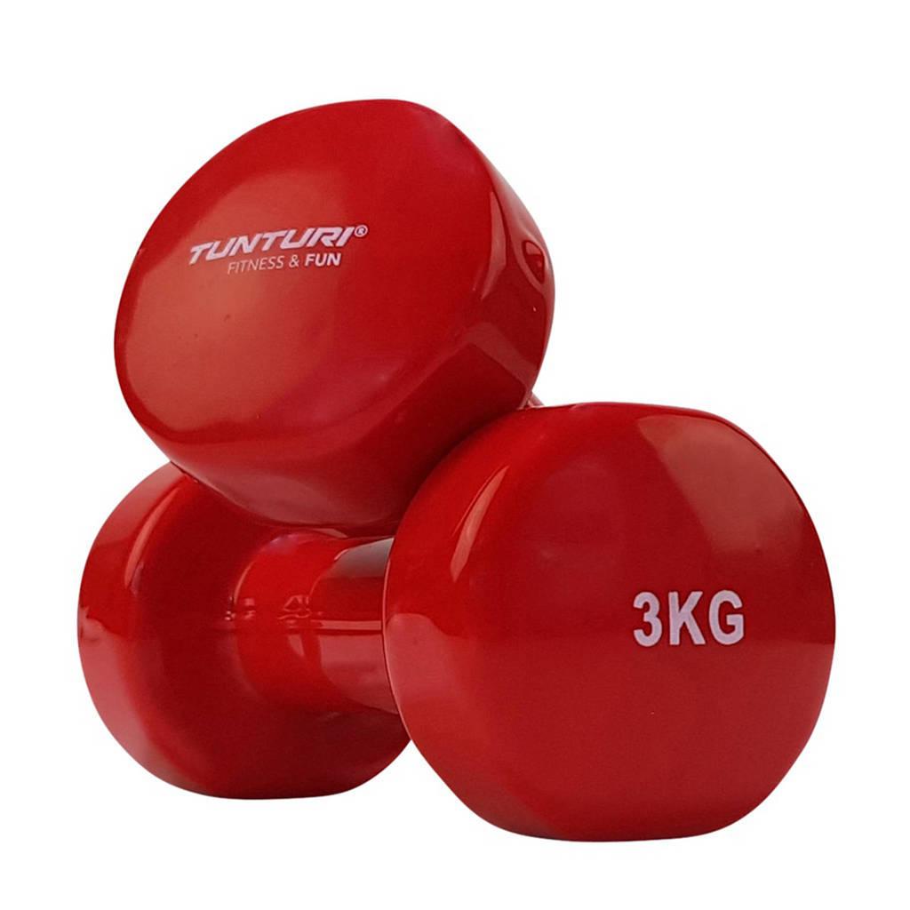 Tunturi vinyl dumbbells 3.0 kg, Rood