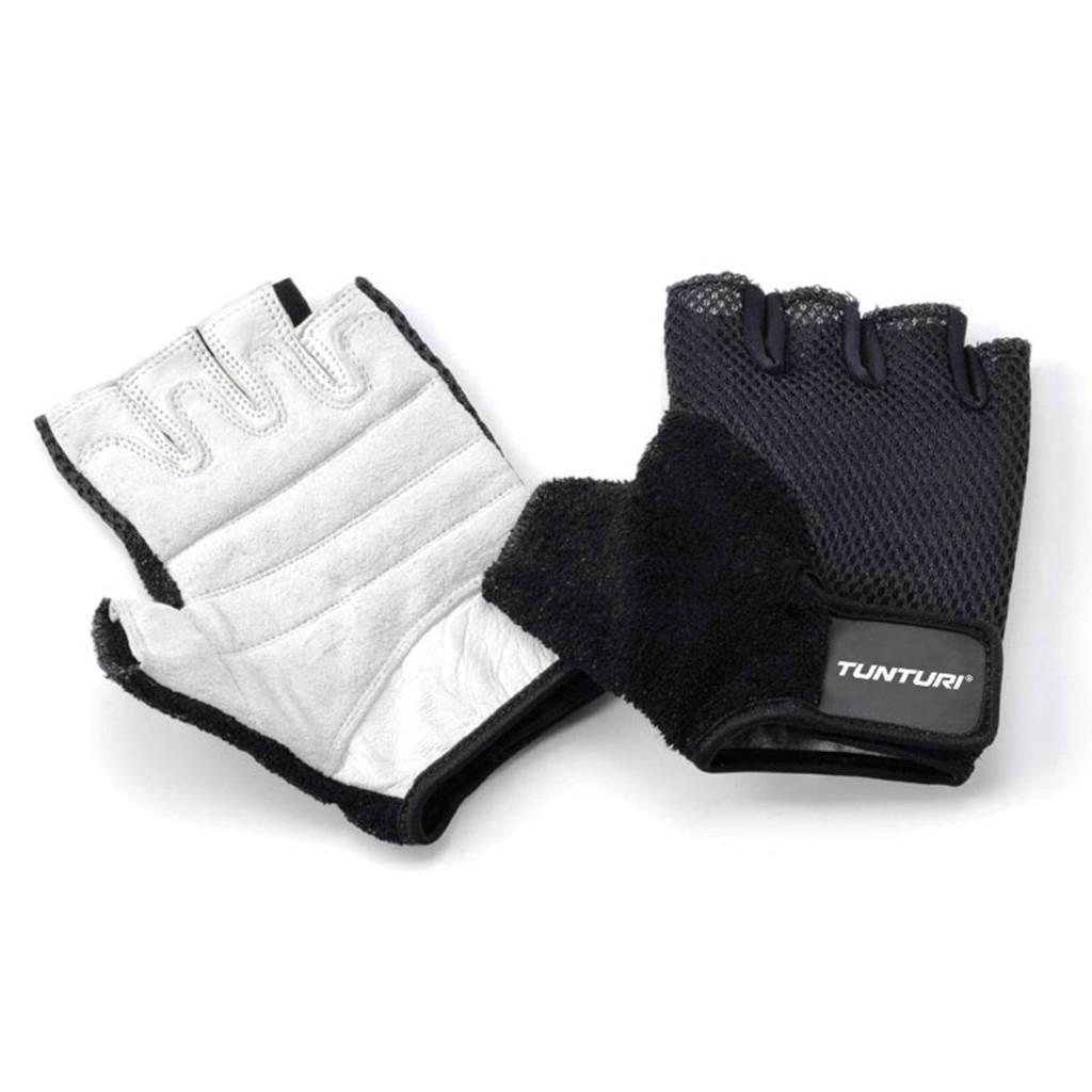 Tunturi Easy Fit, maat M fitness handschoenen maat M, zwart wit