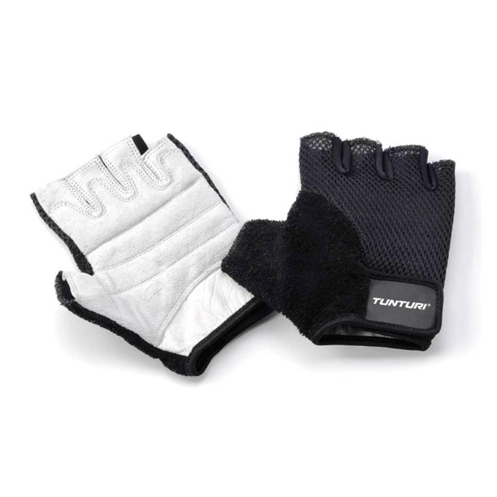 Tunturi Easy Fit, maat XL fitness handschoenen maat XL, zwart wit