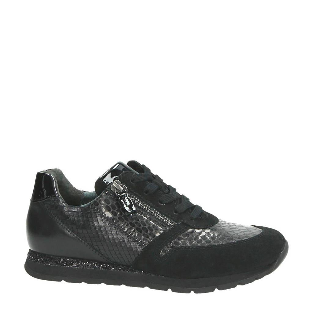 Gabor  leren sneakers, Zwart