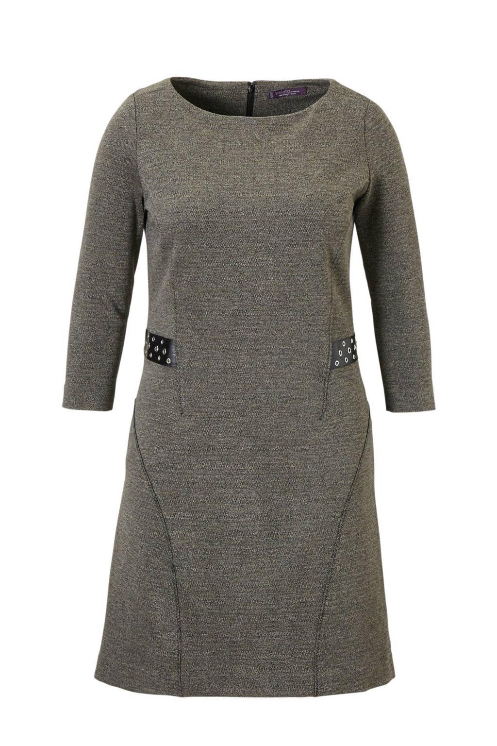 Violeta by Mango jurk, Donkergrijs