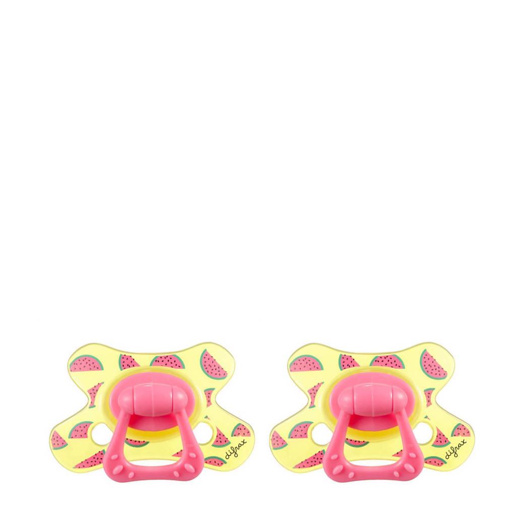 Difrax Dental fopspeen 6+ mnd (2 stuks) Meloni