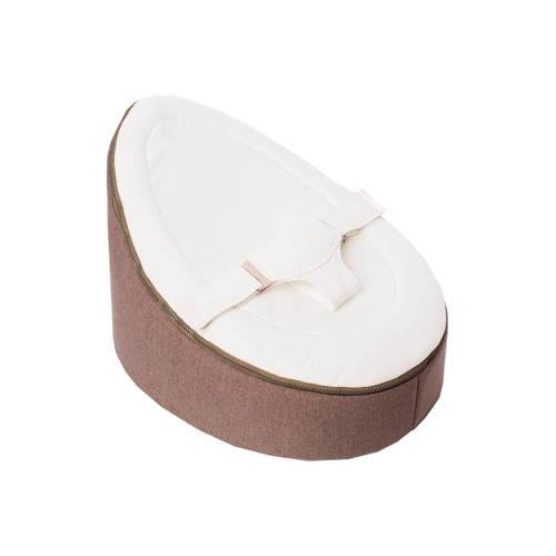 Doomoo Seat Home baby zitzak- taupe/wit kopen