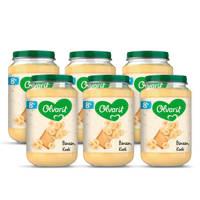Olvarit Banaan Koek - fruithapje voor baby's vanaf 8+ maanden - 6x200 gram babyvoeding in een fruitpotje