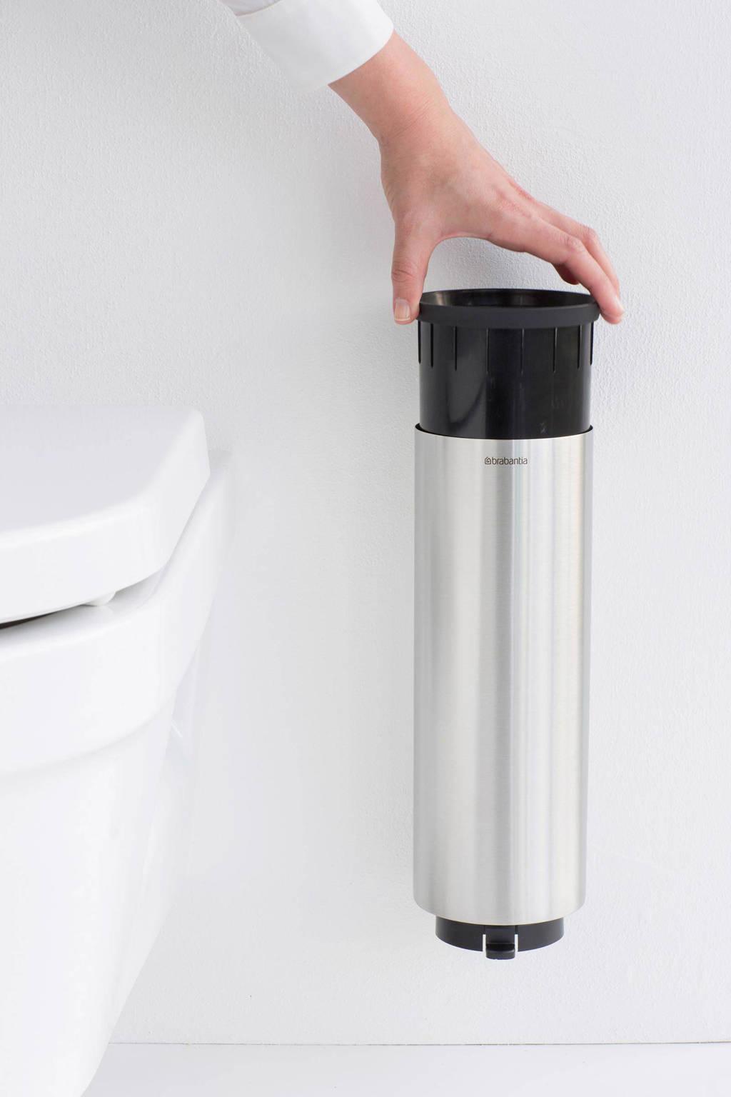 Brabantia toiletborstel met houder, Roestvrijstaal