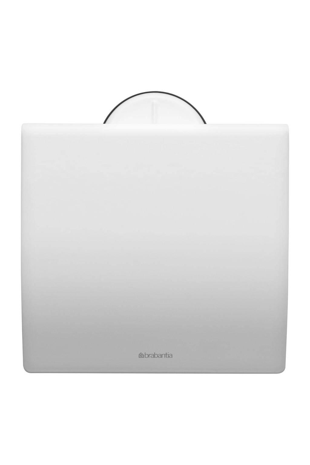 Brabantia toiletrolhouder met klep  wit, Wit