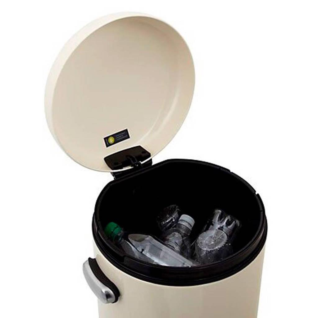 Simplehuman Round Retro Pedaalemmer 30 L Wit.Simplehuman Retro 30 Liter Sh011035 Pedaalemmer 30 Liter