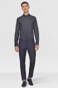 WE Fashion slim fit overhemd, Dark grey