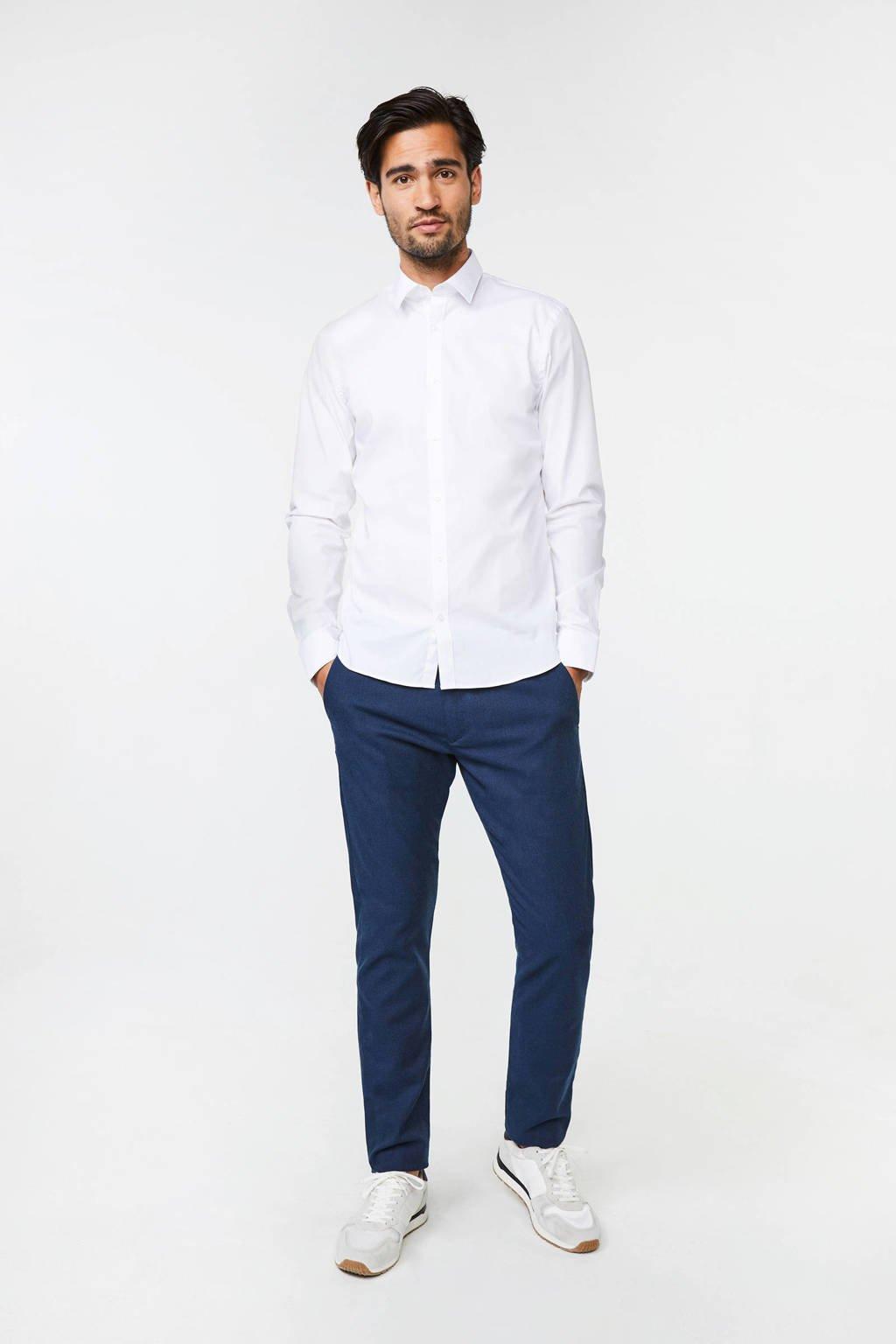 WE Fashion Fundamentals slim fit overhemd, White Uni