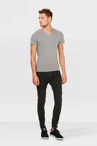 WE Fashion slim fit T-shirt, Light Grey Melange