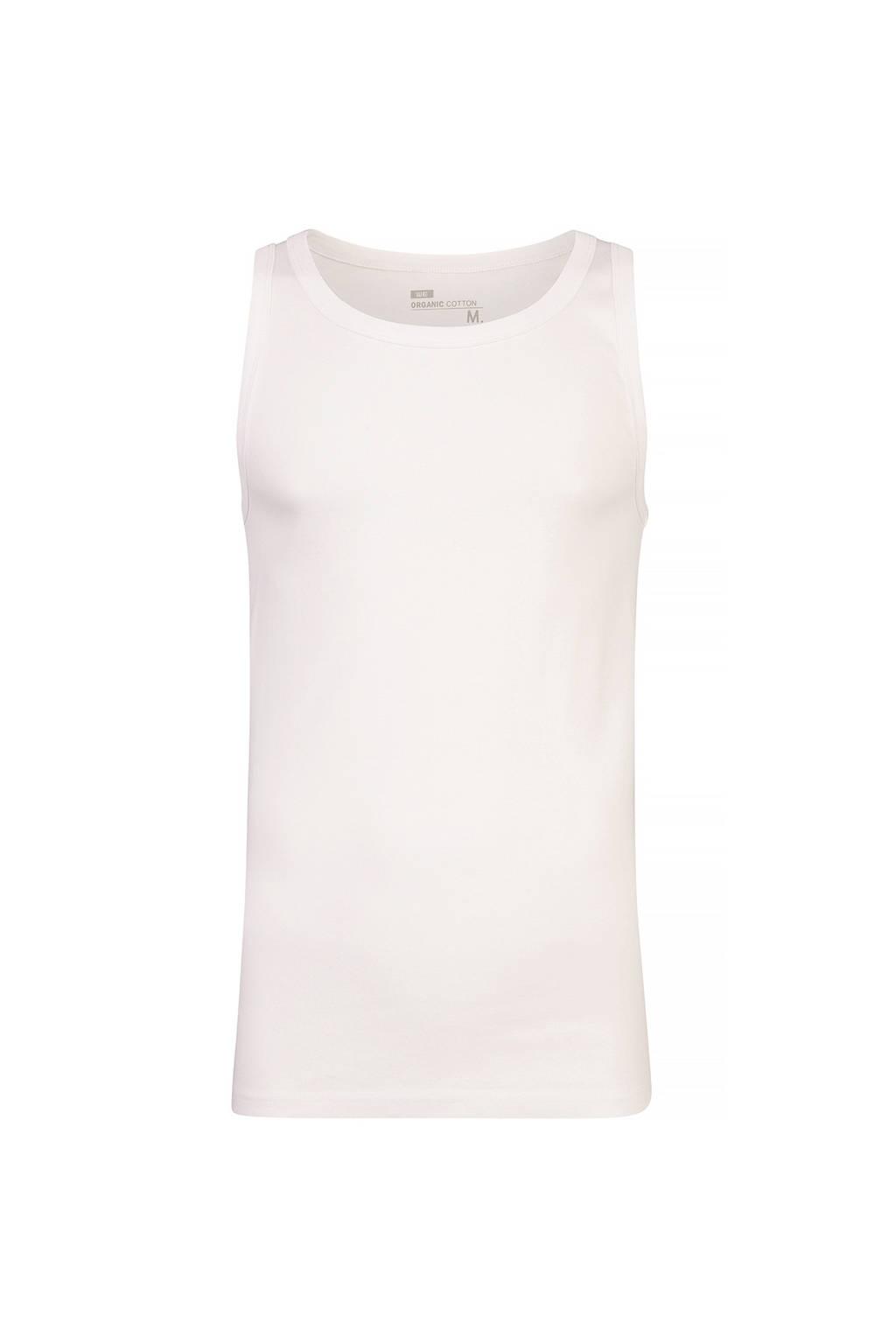 WE Fashion singlet, White Uni