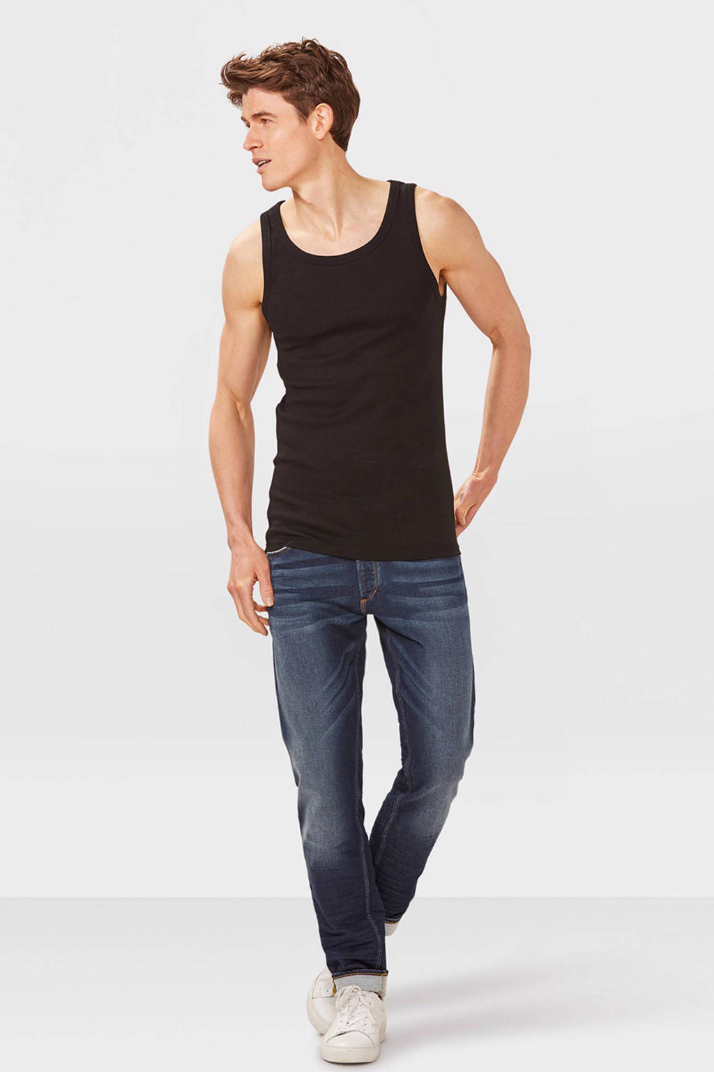 WE Fashion Fundamentals hemd zwart, Black Uni