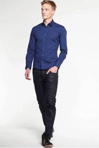 WE Fashion slim fit overhemd, Dark marine