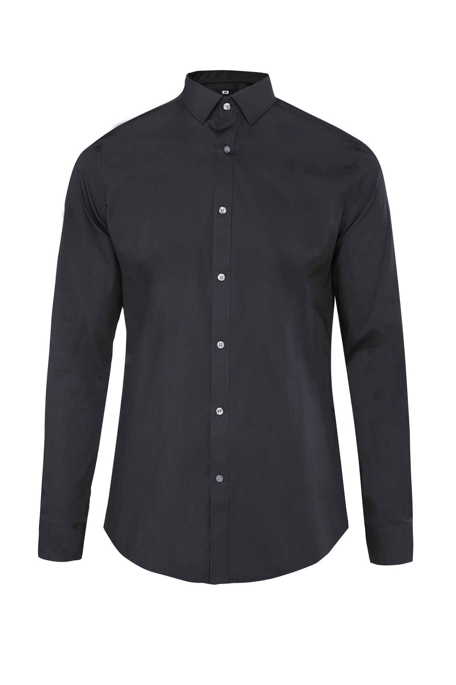 Zwart Overhemd We.We Fashion Slim Fit Overhemd Zwart Wehkamp