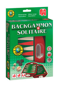Jumbo Backgammon en Solitaire  reisspel