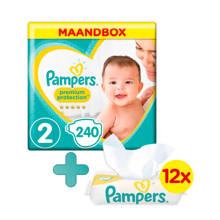 Premium Protection maandbox maat 2 (4-8 kg) 240 luiers + Sensitive babydoekjes