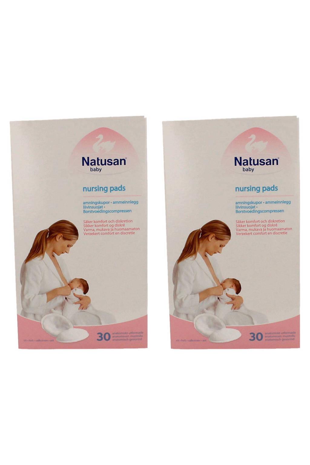Natusan First Touch zoogcompressen (2x30 stuks), Wit