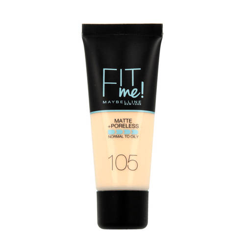 Maybelline Fit Me! Matte + Poreless liquid foundation 105 Natural Ivory