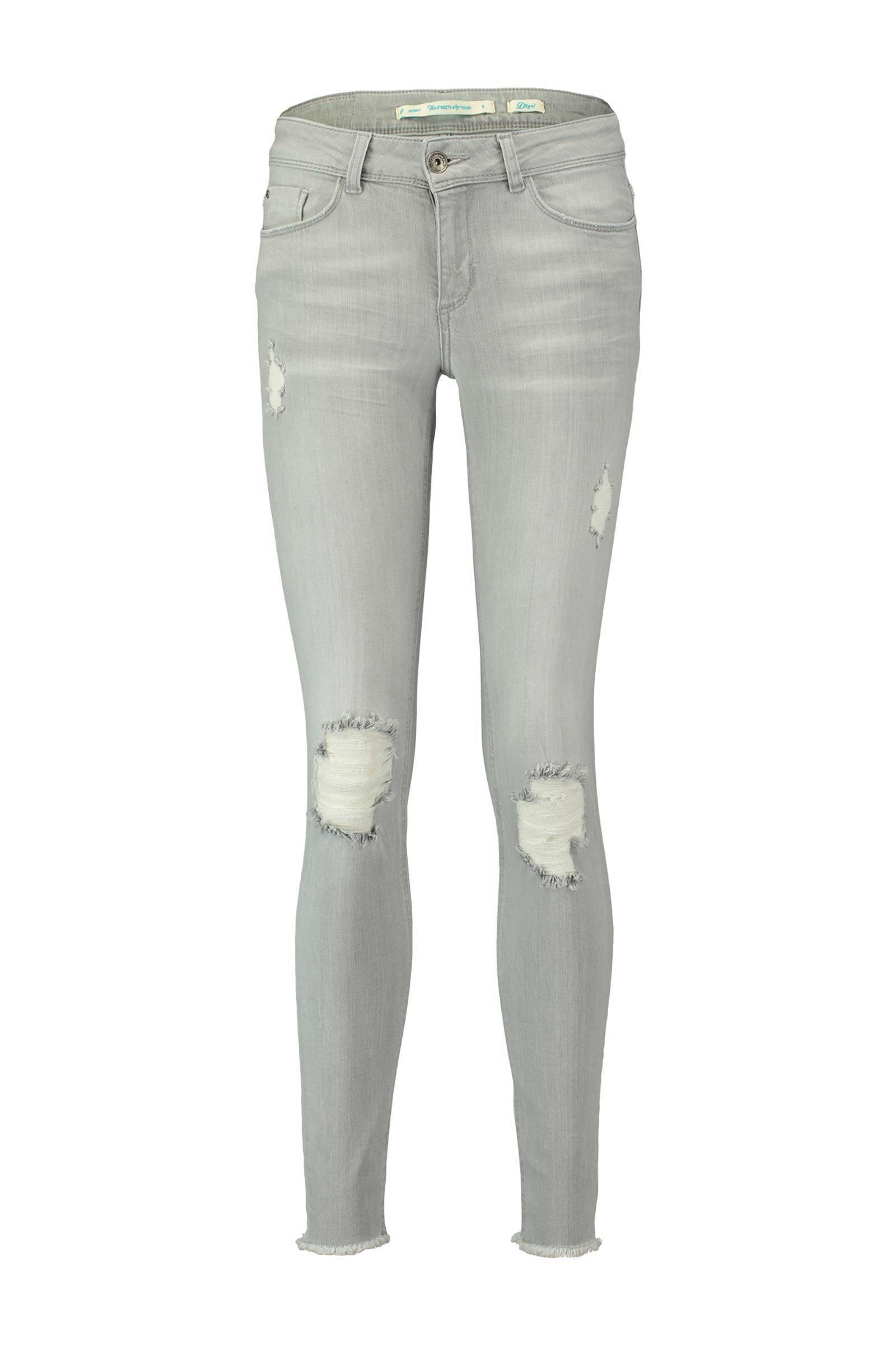 Ripped Skinny Jeans Grijs