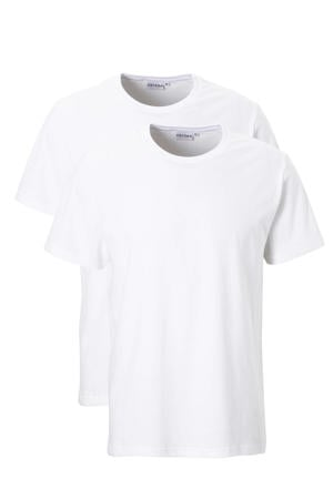+size basic t-shirt (set van 2) wit