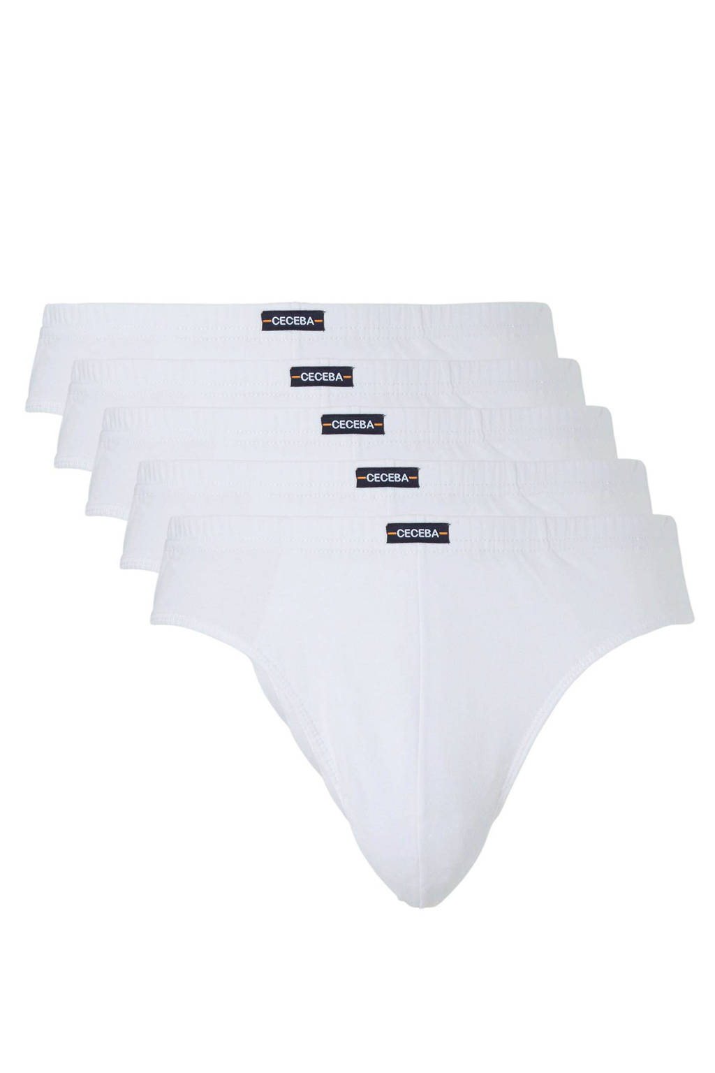 Ceceba slip +size (set van 5), Wit