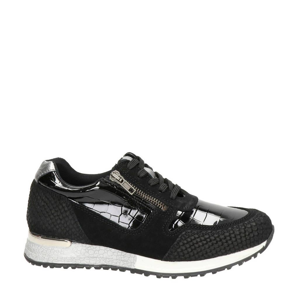 PS Poelman  sneakers, Zwart
