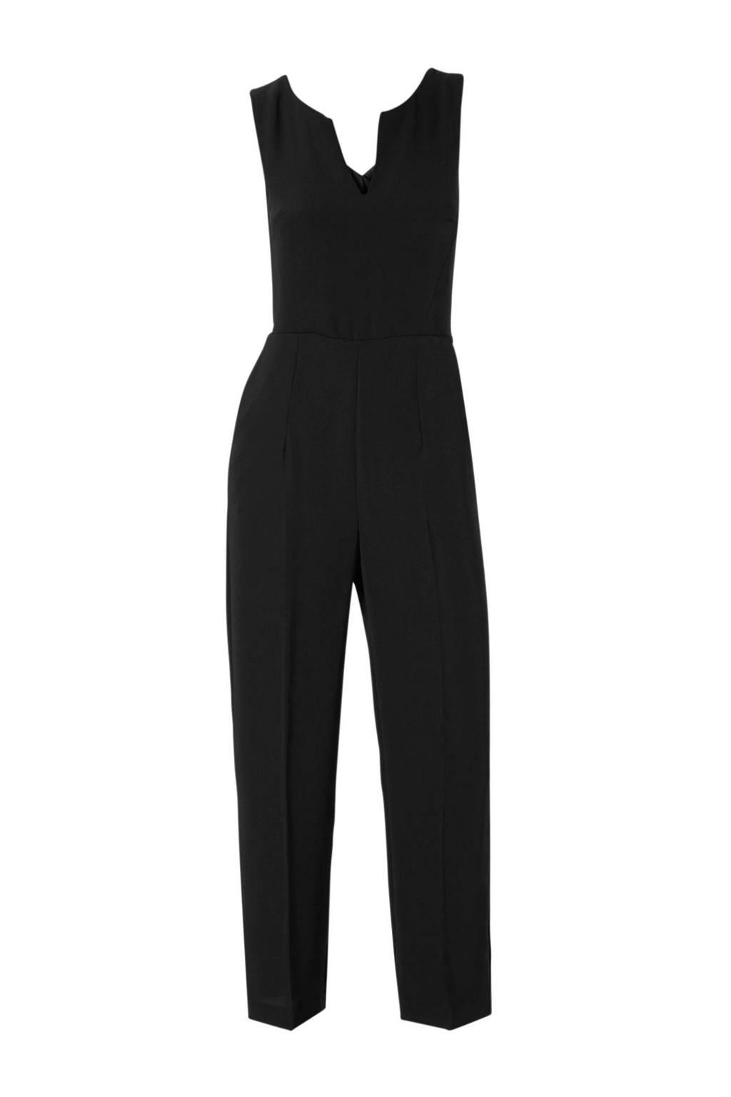Mango cropped jumpsuit, Zwart