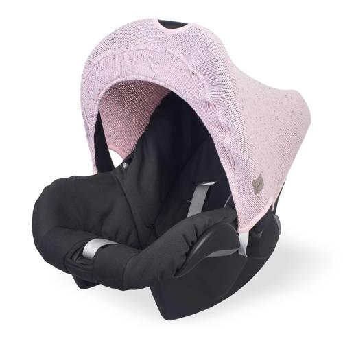 Jollein Confetti knit zonnekapje 0-9 maanden stoel vintage pink kopen