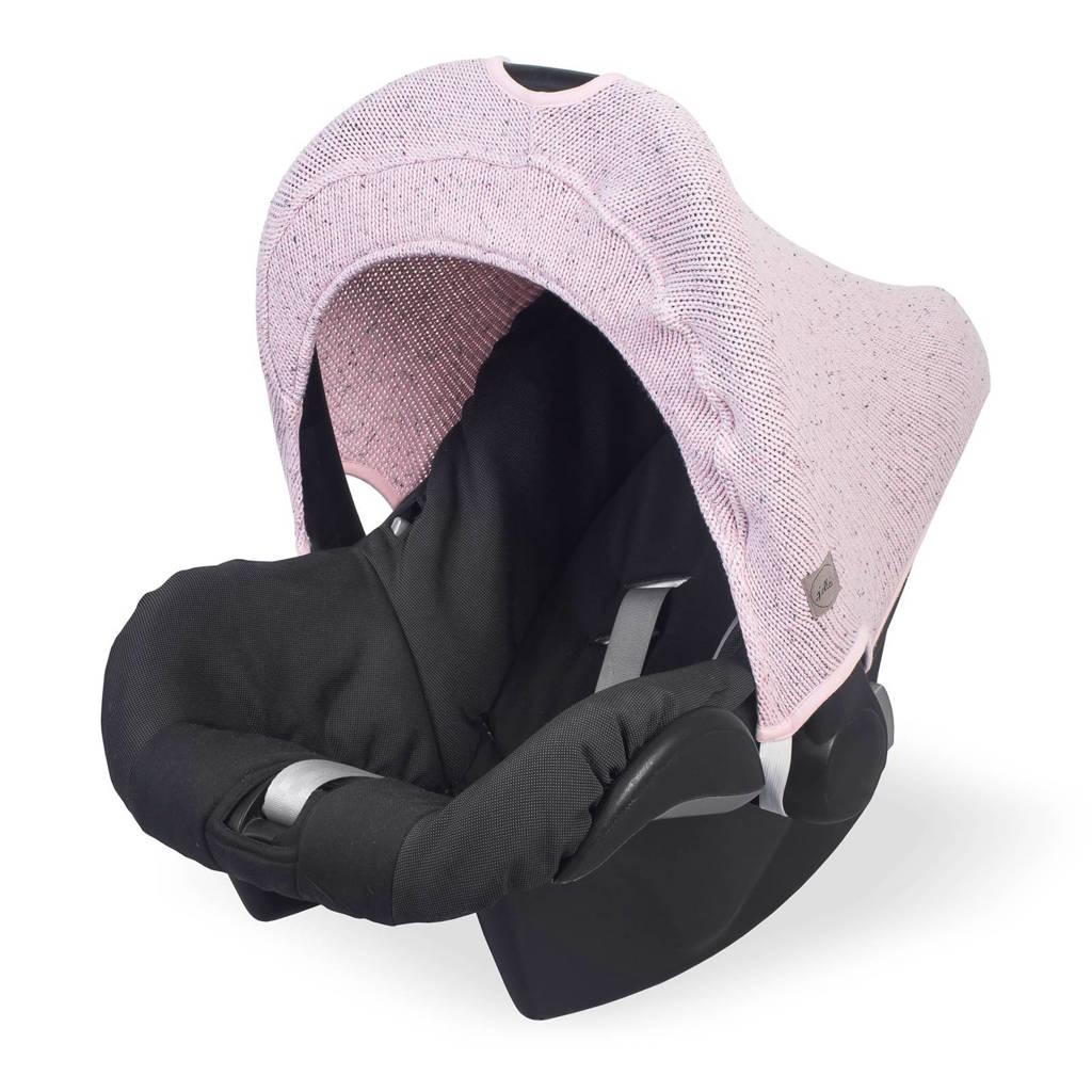 Jollein Confetti knit zonnekapje 0-9 maanden stoel vintage pink, Vintage Pink