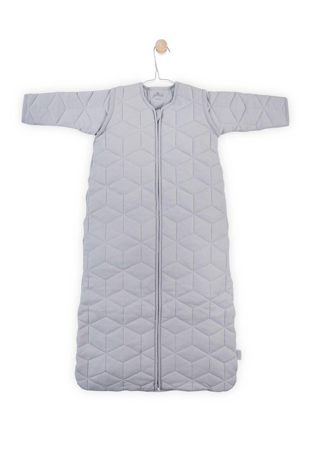 Jollein Graphic quilt baby slaapzak 4-seizoenen 110 cm grey, Grey