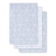 hydrofiel washandje Graphic grey 3-pack