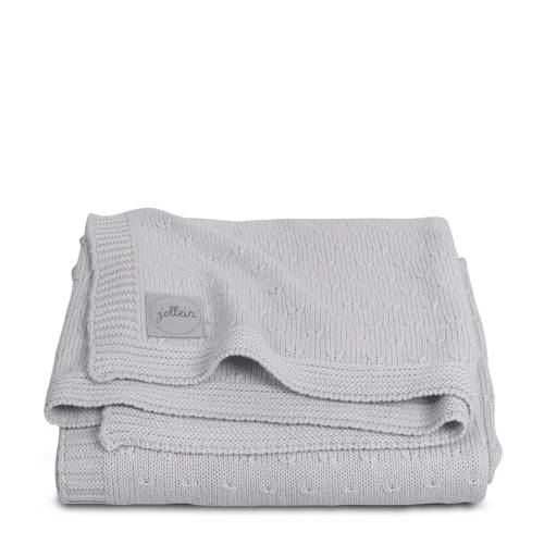 Deken Wieg Jollein Soft Knit Light Grey-Teddy
