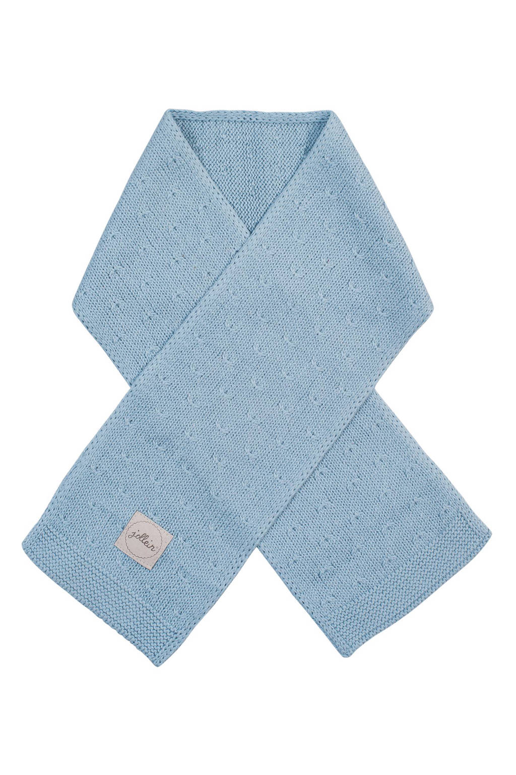 Jollein soft knit sjaal soft blue