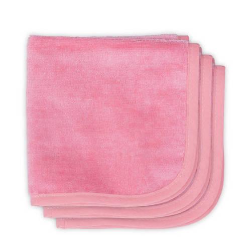 Jollein Velvet terry monddoekjes 30x30 cm (3 stuks) coral pink kopen