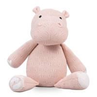 Jollein soft knit Hippo creamy peach knuffel 26 cm, Creamy peach