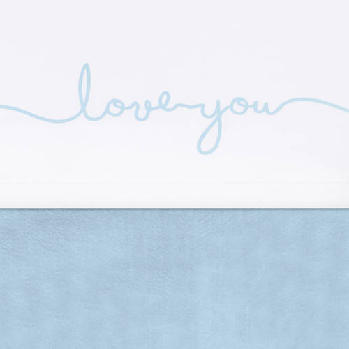 Jollein laken 120x150cm Love you soft blue kopen