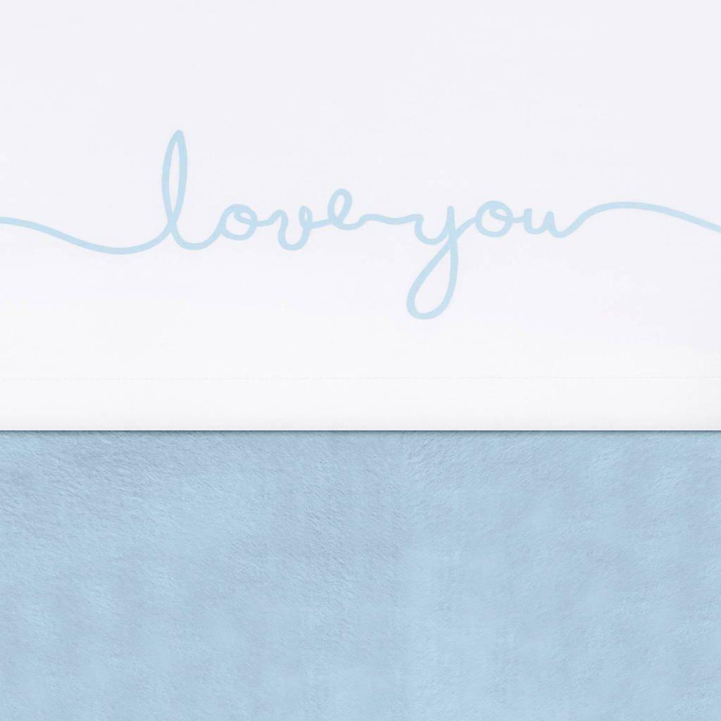 Jollein baby ledikantlaken 120x150cm Love you soft blue