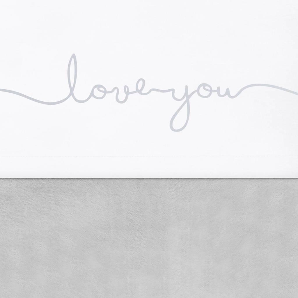 Jollein laken 75x100cm Love you grey, Grey
