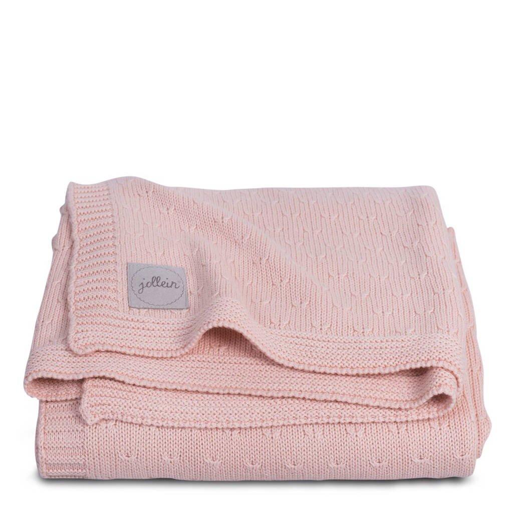 Jollein deken 75x100cm Soft knit creamy peach / teddy, Creamy peach