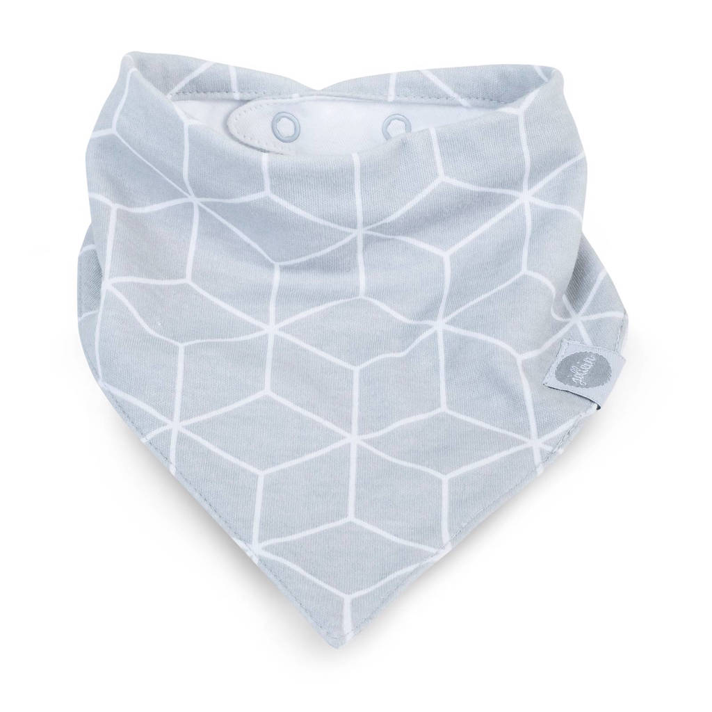 Jollein slab bandana Graphic grey, Grey