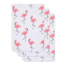 hydrofiel washandje Flamingo 3-pack