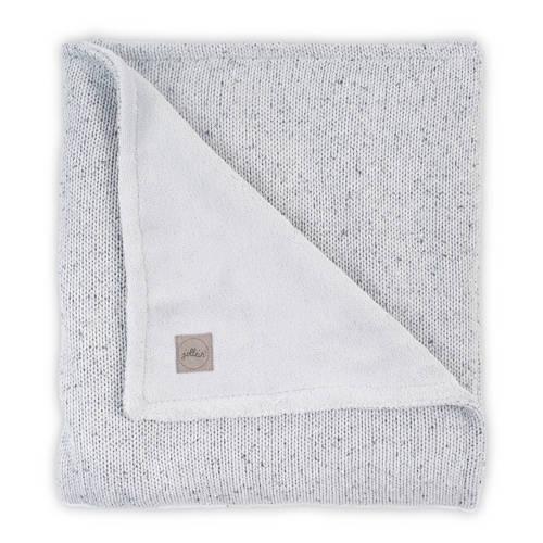 wiegdeken 75x100cm Confetti Knit grey-teddy