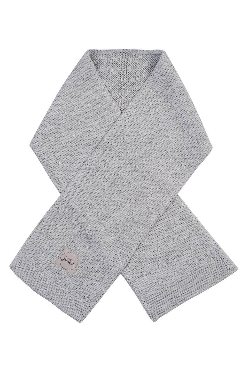 Jollein soft knit sjaal light grey, Light Grey