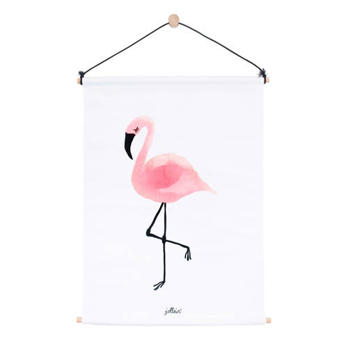 poster 42x60cm canvas Flamingo