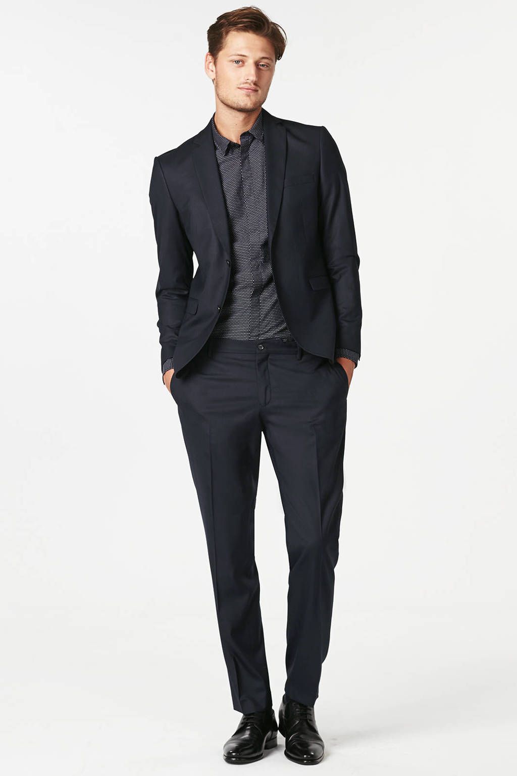 Jack & Jones Premium slim fit colbert, Donkerblauw