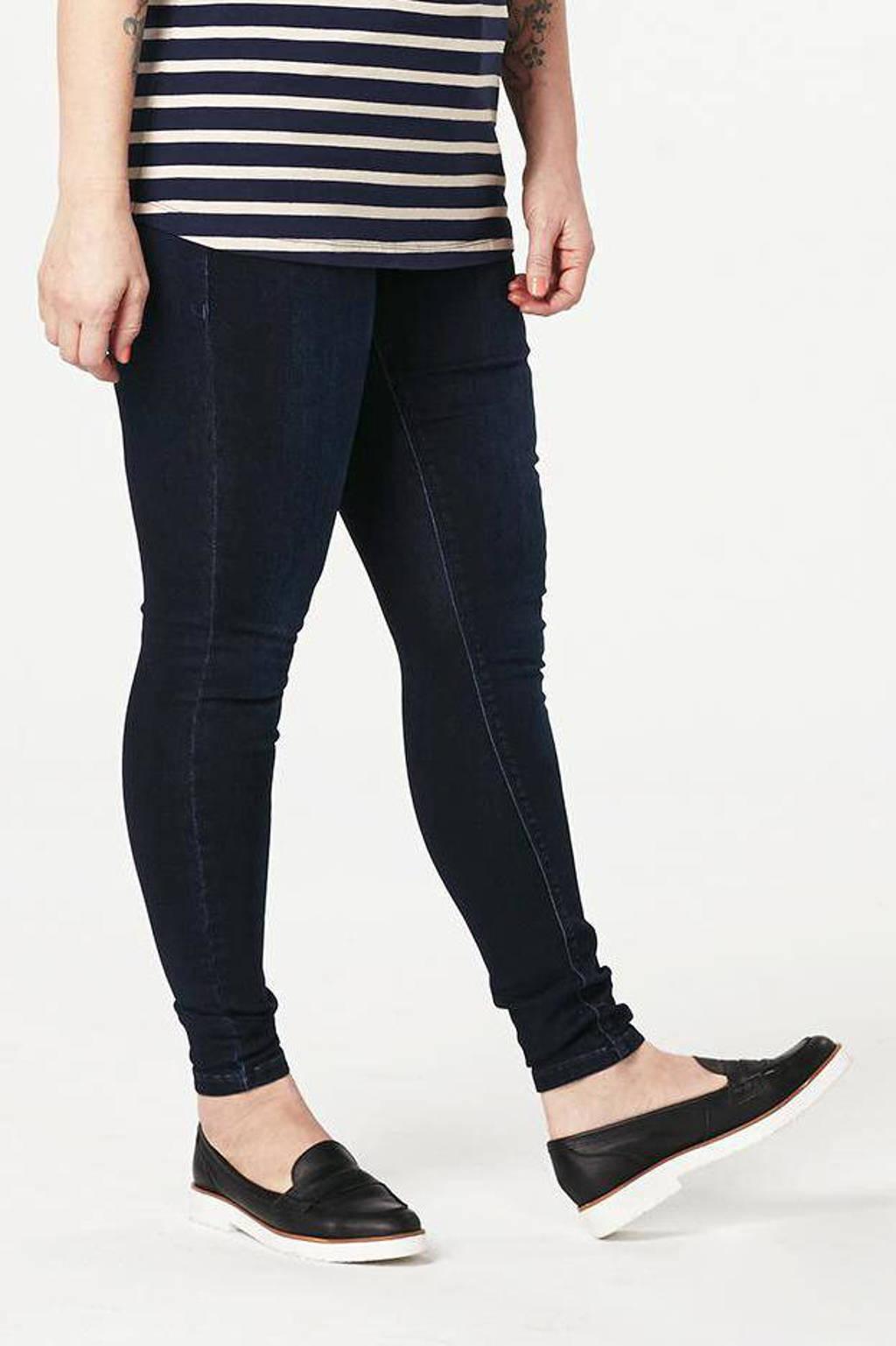 Zizzi high waist skinny fit jeans Amy dark blue, Dark denim