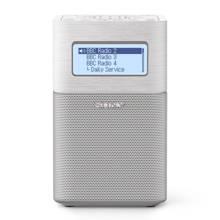 XDRV1BTDB.EU8 draagbare DAB/DAB+ wekkerradio wit